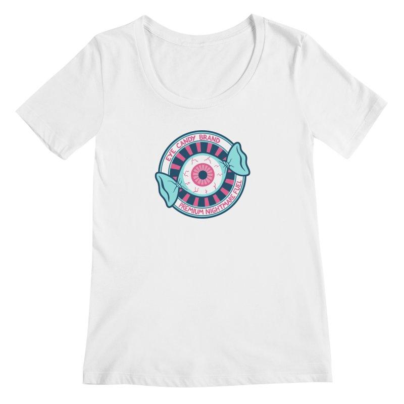 Eye Candy Badge Women's Regular Scoop Neck by Lupi Art + Illustration