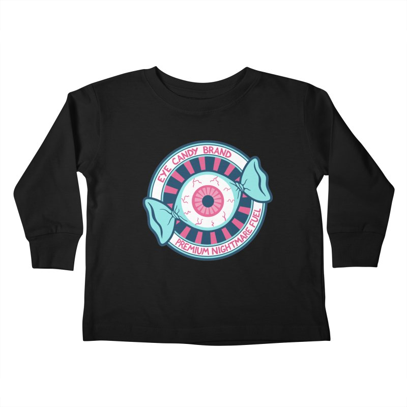 Eye Candy Badge Kids Toddler Longsleeve T-Shirt by Lupi Art + Illustration