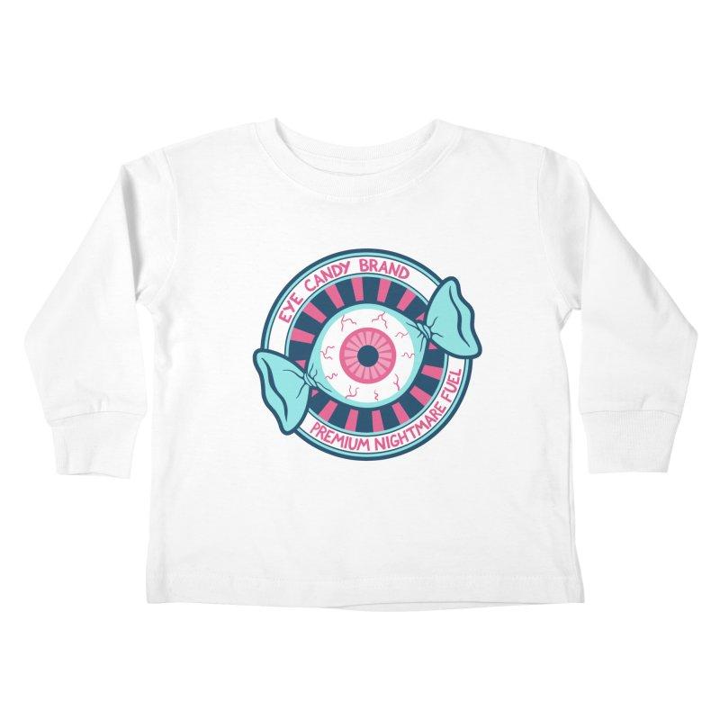 Eye Candy Badge Kids Toddler Longsleeve T-Shirt by Lupi Art + Illustration