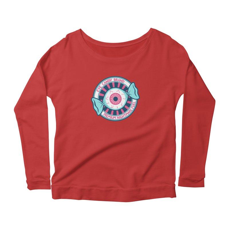 Eye Candy Badge Women's Scoop Neck Longsleeve T-Shirt by Lupi Art + Illustration
