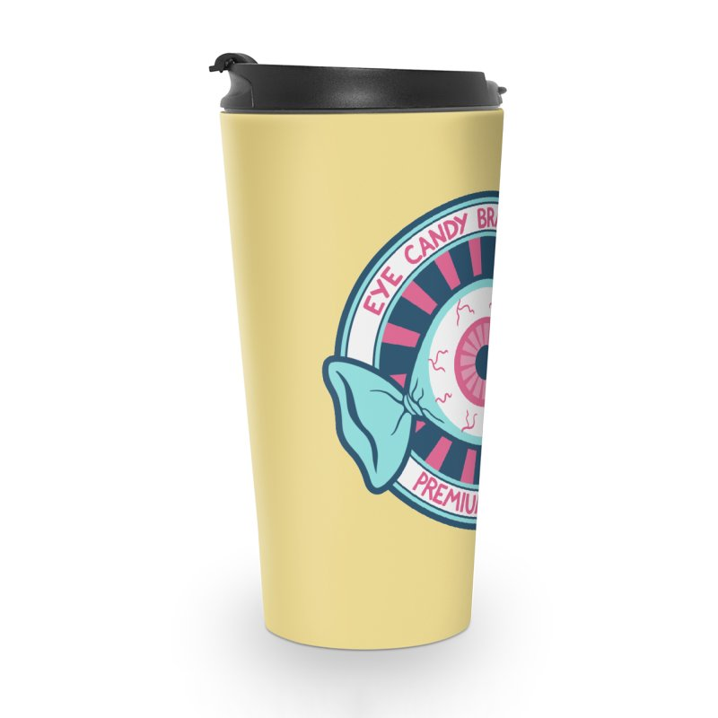 Eye Candy Badge Accessories Travel Mug by Lupi Art + Illustration