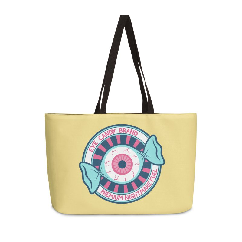 Eye Candy Badge Accessories Weekender Bag Bag by Lupi Art + Illustration