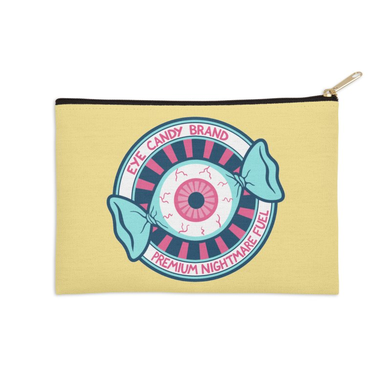 Eye Candy Badge Accessories Zip Pouch by Lupi Art + Illustration