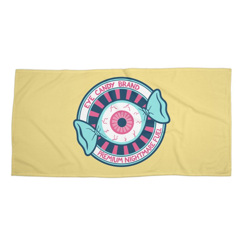Eye Candy Badge Accessories Beach Towel by Lupi Art + Illustration