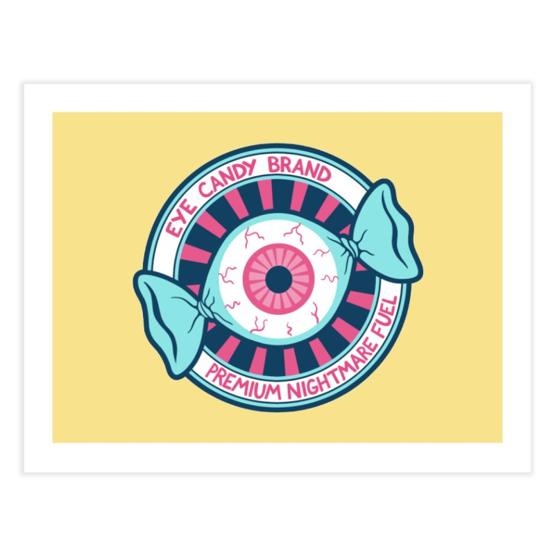 Eye Candy Badge Home Fine Art Print by Lupi Art + Illustration