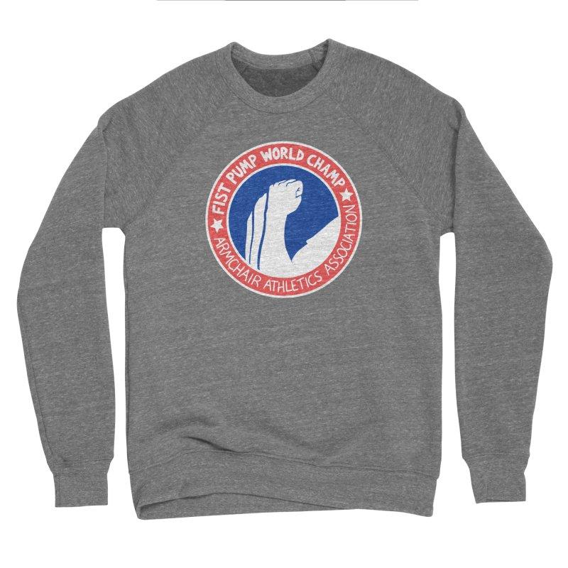 Fist Pump World Champ Men's Sweatshirt by Lupi Art + Illustration