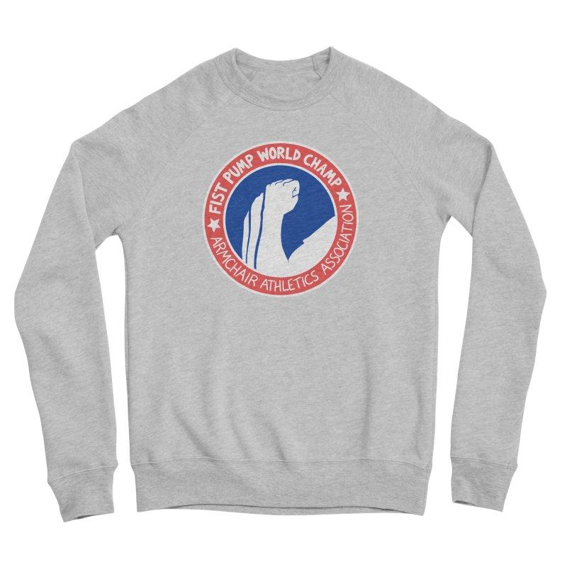 Fist Pump World Champ Men's Sponge Fleece Sweatshirt by Lupi Art + Illustration