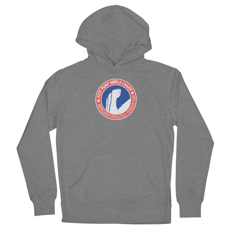 Fist Pump World Champ Men's French Terry Pullover Hoody by Lupi Art + Illustration