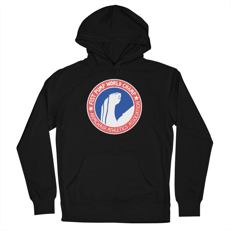 Fist Pump World Champ Women's French Terry Pullover Hoody by Lupi Art + Illustration