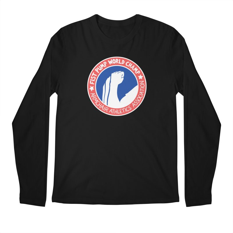 Fist Pump World Champ Men's Regular Longsleeve T-Shirt by Lupi Art + Illustration