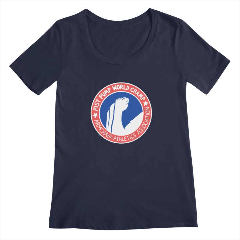 Fist Pump World Champ Women's Regular Scoop Neck by Lupi Art + Illustration