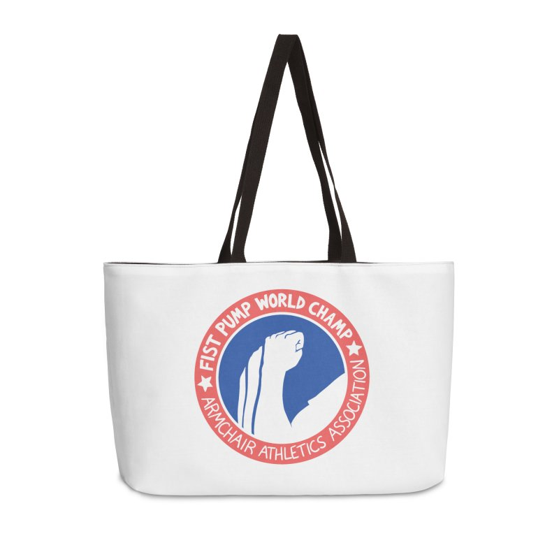Fist Pump World Champ Accessories Weekender Bag Bag by Lupi Art + Illustration