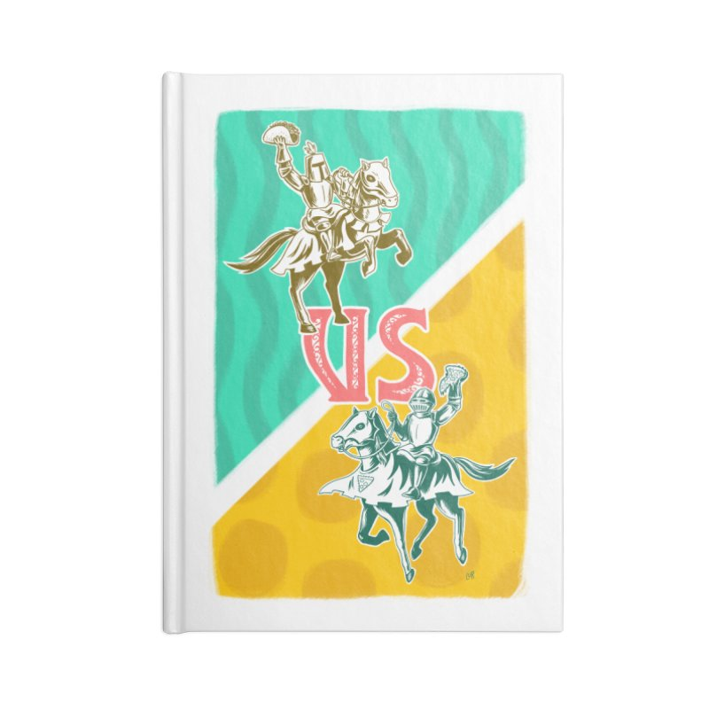 Taco Knight vs. Pizza Knight Accessories Notebook by Lupi Art + Illustration