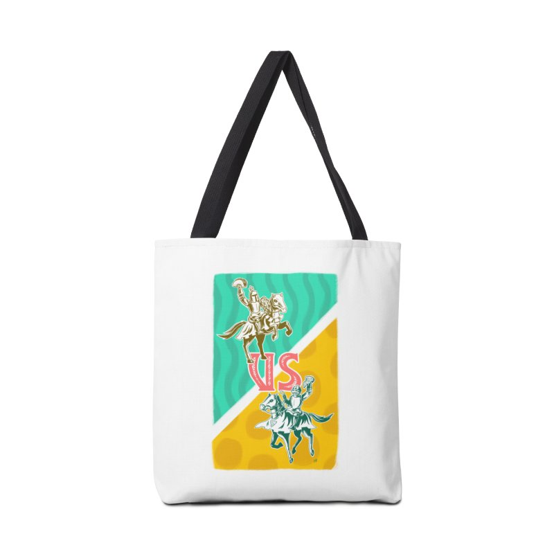 Taco Knight vs. Pizza Knight Accessories Tote Bag Bag by Lupi Art + Illustration