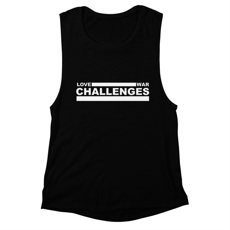 Love War Challenges Tee (Black) Women's Muscle Tank by Shop LWC