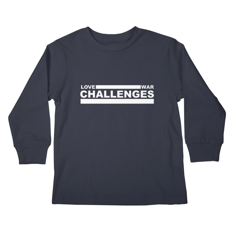 Love War Challenges Tee (Black) Kids Longsleeve T-Shirt by Shop LWC