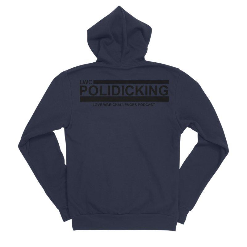 POLIDICKING Men's Sponge Fleece Zip-Up Hoody by Shop LWC