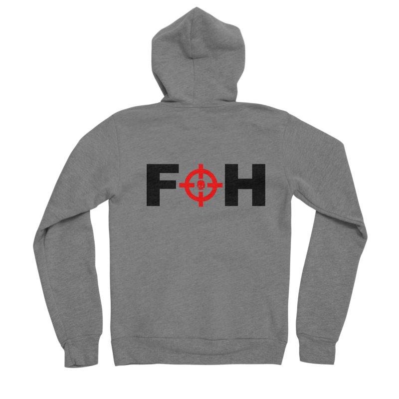 FOH (BLACK) Men's Sponge Fleece Zip-Up Hoody by Shop LWC