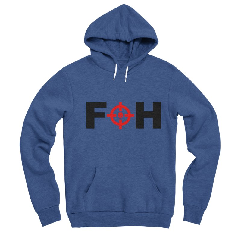 FOH (BLACK) Men's Sponge Fleece Pullover Hoody by Shop LWC