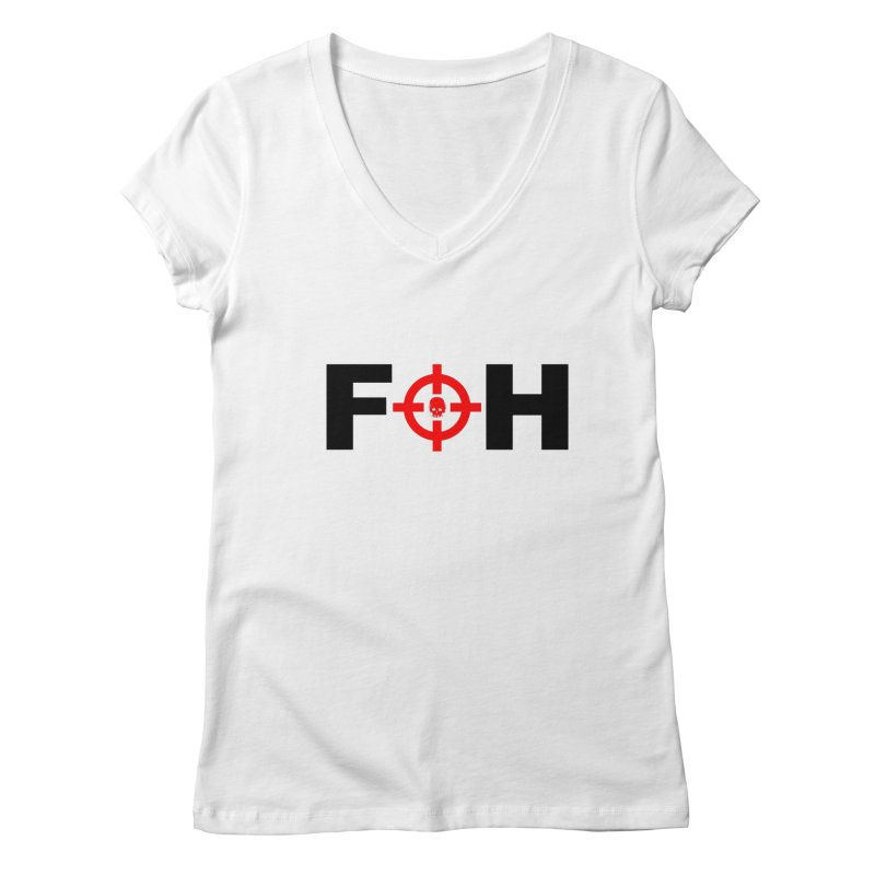FOH (BLACK) Women's Regular V-Neck by Shop LWC