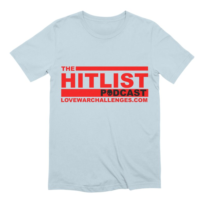 The Hitlist Logo (Red) Men's Extra Soft T-Shirt by Shop LWC