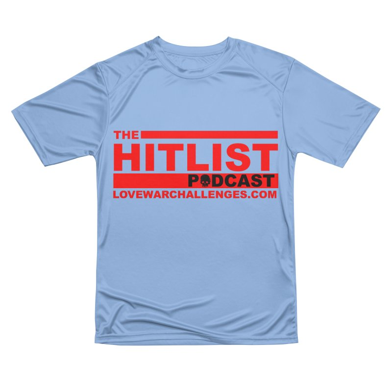 The Hitlist Logo (Red) Women's Performance Unisex T-Shirt by Shop LWC