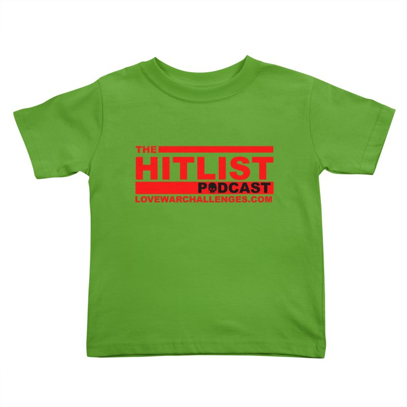 The Hitlist Logo (Red) Kids Toddler T-Shirt by Shop LWC