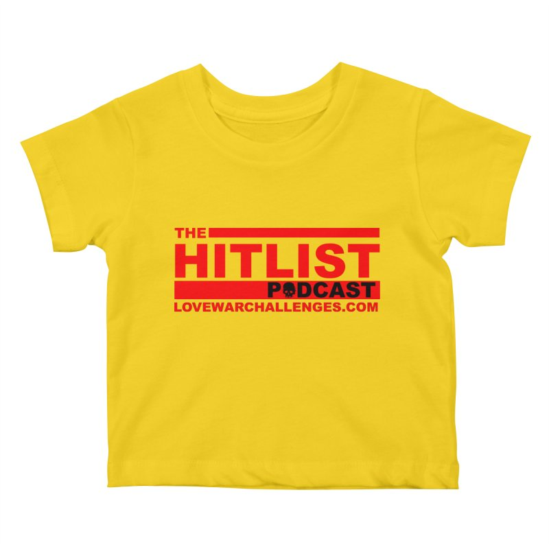 The Hitlist Logo (Red) Kids Baby T-Shirt by Shop LWC