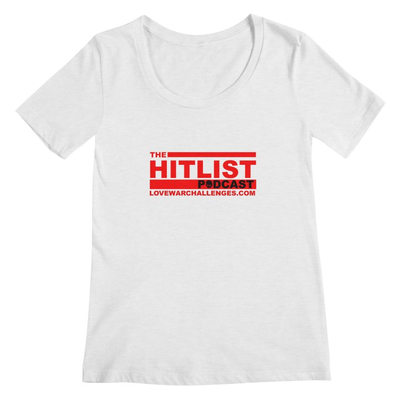 The Hitlist Logo (Red) Women's Regular Scoop Neck by Shop LWC