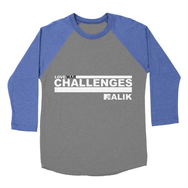 LWC MALIK Men's Baseball Triblend Longsleeve T-Shirt by Shop LWC