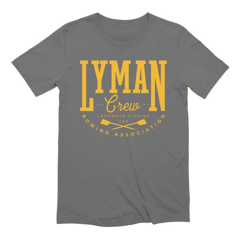 lyman athletic Men's T-Shirt by Lyman Rowing's Artist Shop