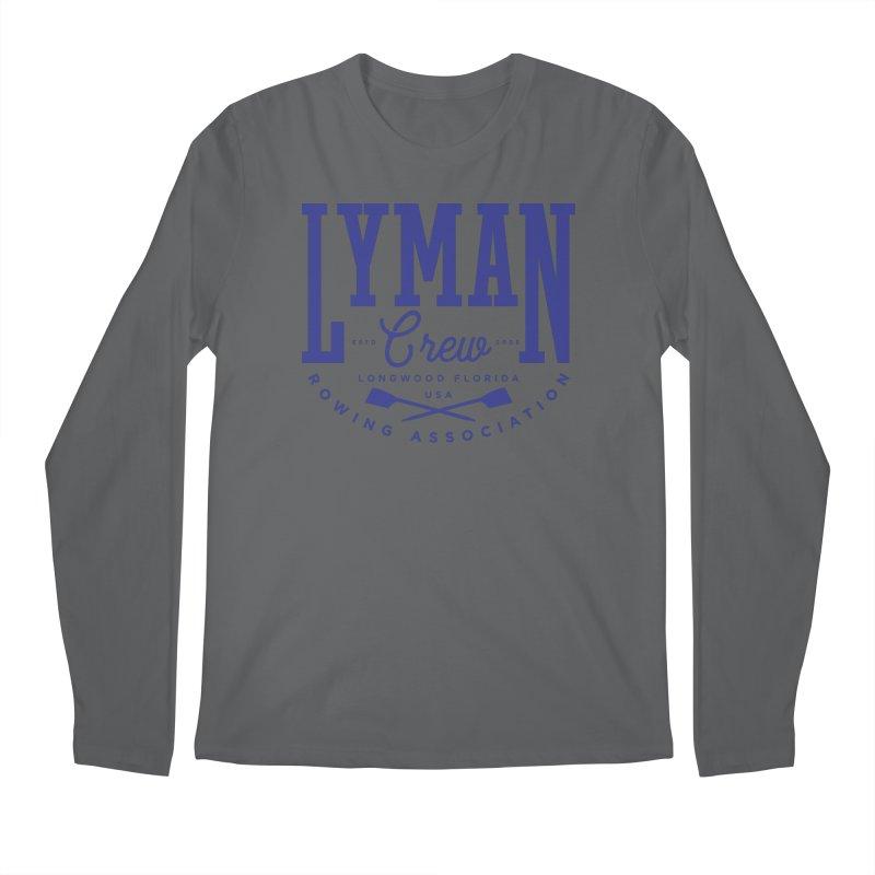 lyman athletic (blue) Men's Longsleeve T-Shirt by Lyman Rowing's Artist Shop