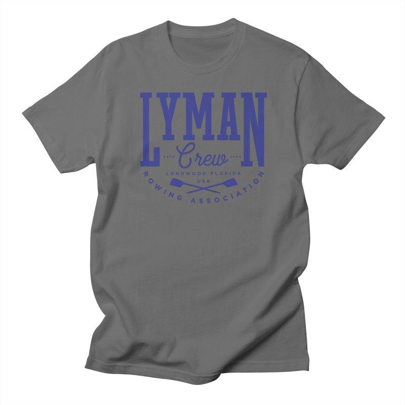 lyman athletic (blue) Men's T-Shirt by Lyman Rowing's Artist Shop