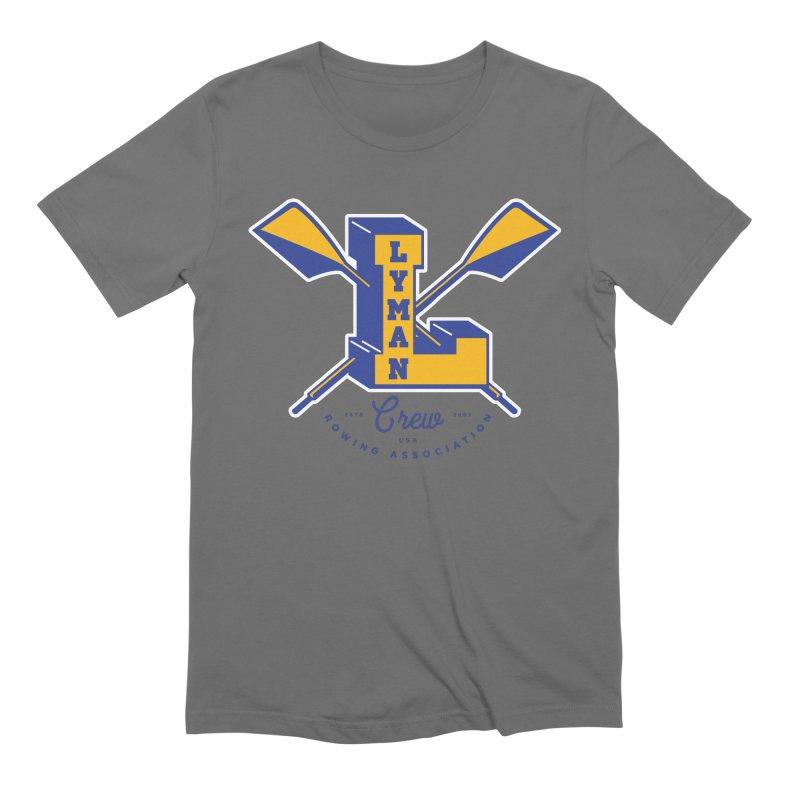 lyman college blue Men's T-Shirt by Lyman Rowing's Artist Shop