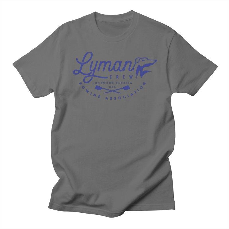 Lyman Dog Script Blue Men's T-Shirt by Lyman Rowing's Artist Shop