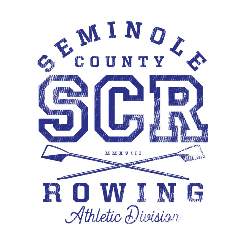 SCR Athletic (Blue) Men's T-Shirt by Lyman Rowing's Artist Shop