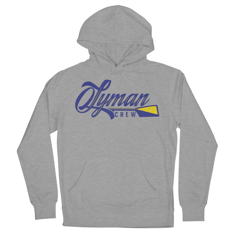 Script Hoodie in Men's French Terry Pullover Hoody Heather Graphite by Lyman Rowing's Artist Shop