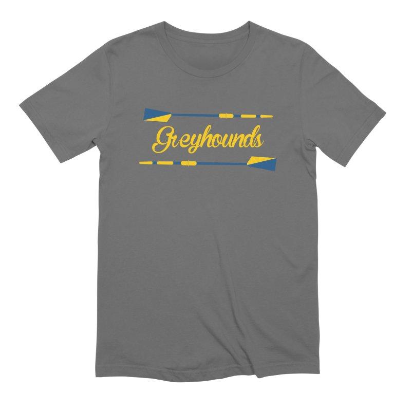 Greyhounds Cursive Men's T-Shirt by Lyman Rowing's Artist Shop