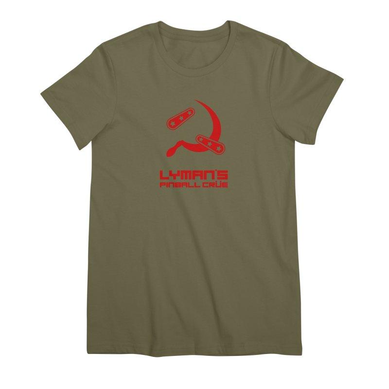 Flipper and Sickle Women's Premium T-Shirt by Lymans Tavern