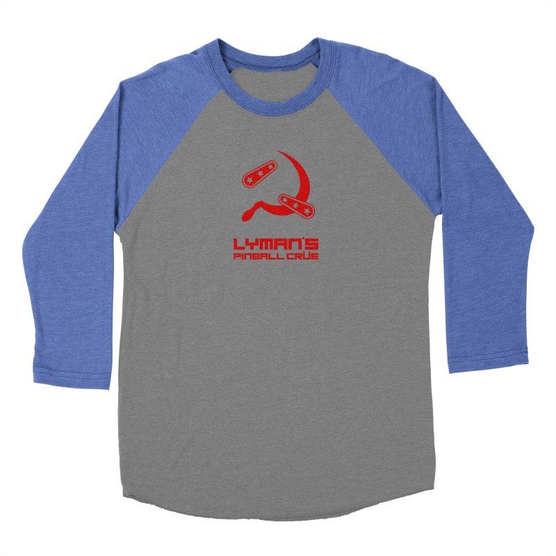 Flipper and Sickle Men's Baseball Triblend Longsleeve T-Shirt by Lymans Tavern