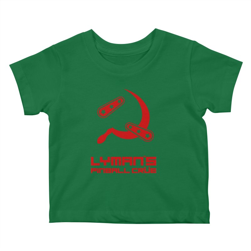 Flipper and Sickle Kids Baby T-Shirt by Lymans Tavern