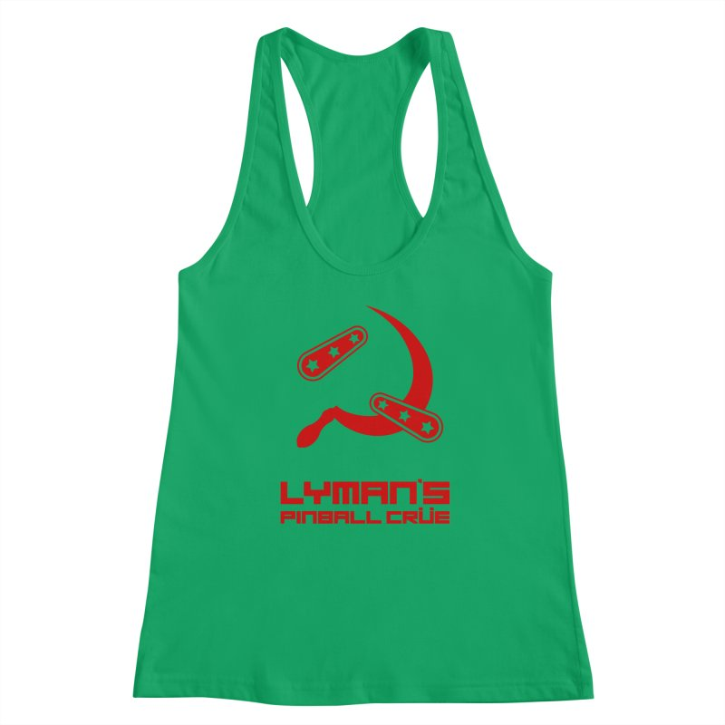 Flipper and Sickle Women's Racerback Tank by Lymans Tavern