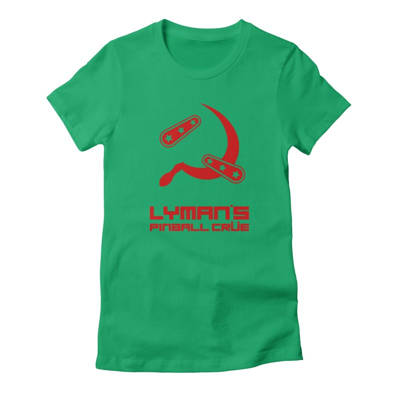 Flipper and Sickle Women's Fitted T-Shirt by Lymans Tavern