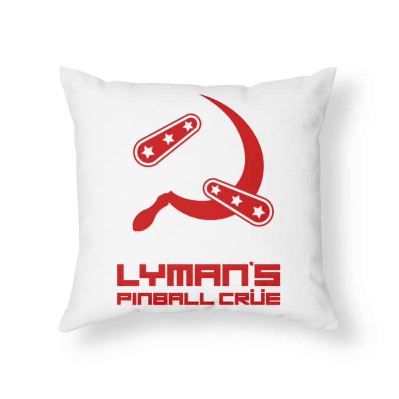 Flipper and Sickle Home Throw Pillow by Lymans Tavern