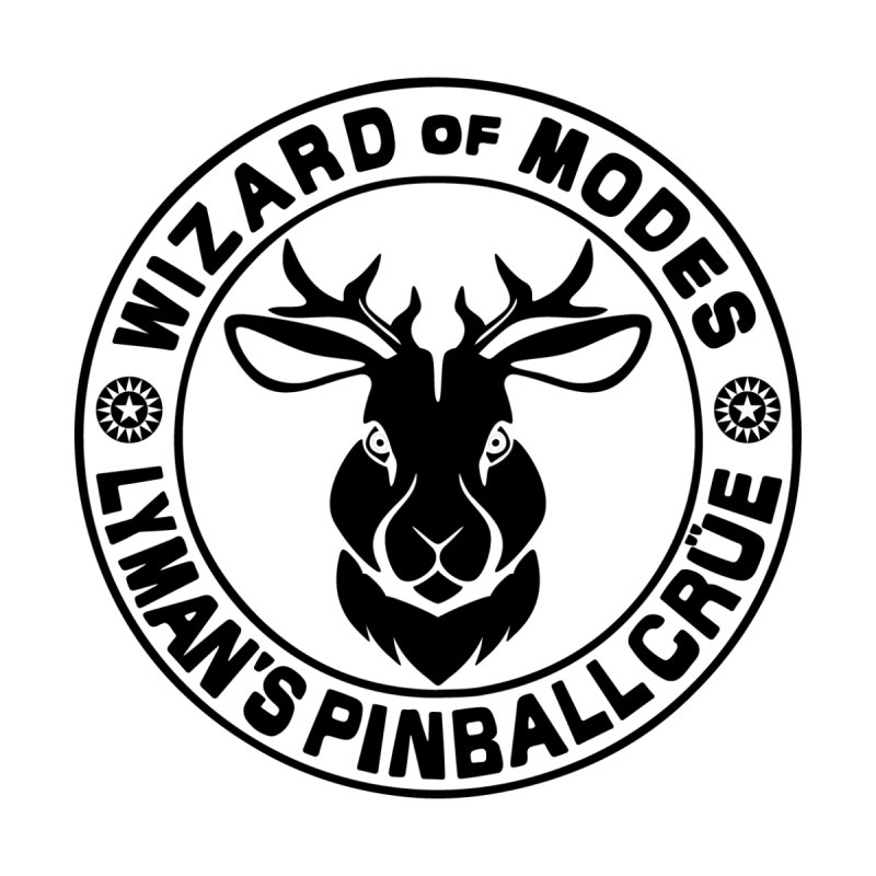 Wizard of Modes Black Accessories Button by Lymans Tavern