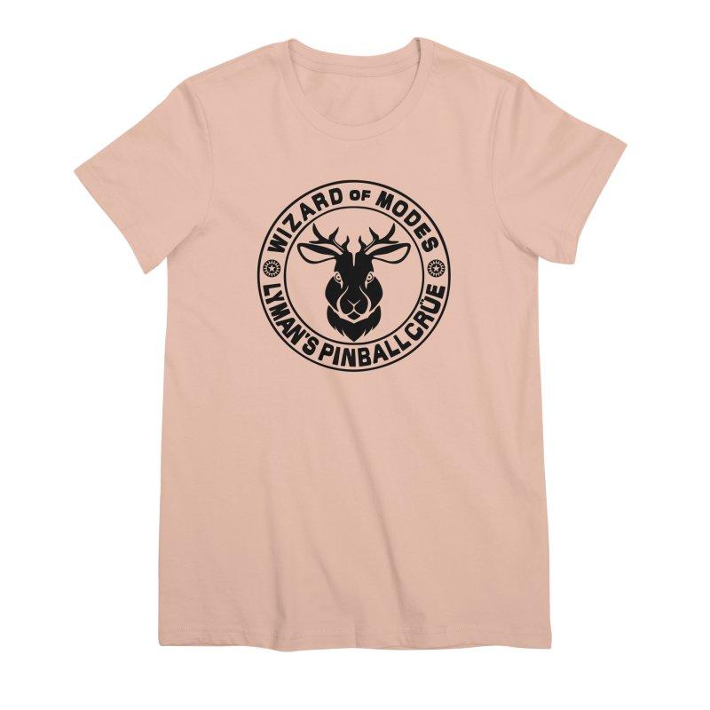 Wizard of Modes Black Women's Premium T-Shirt by Lymans Tavern