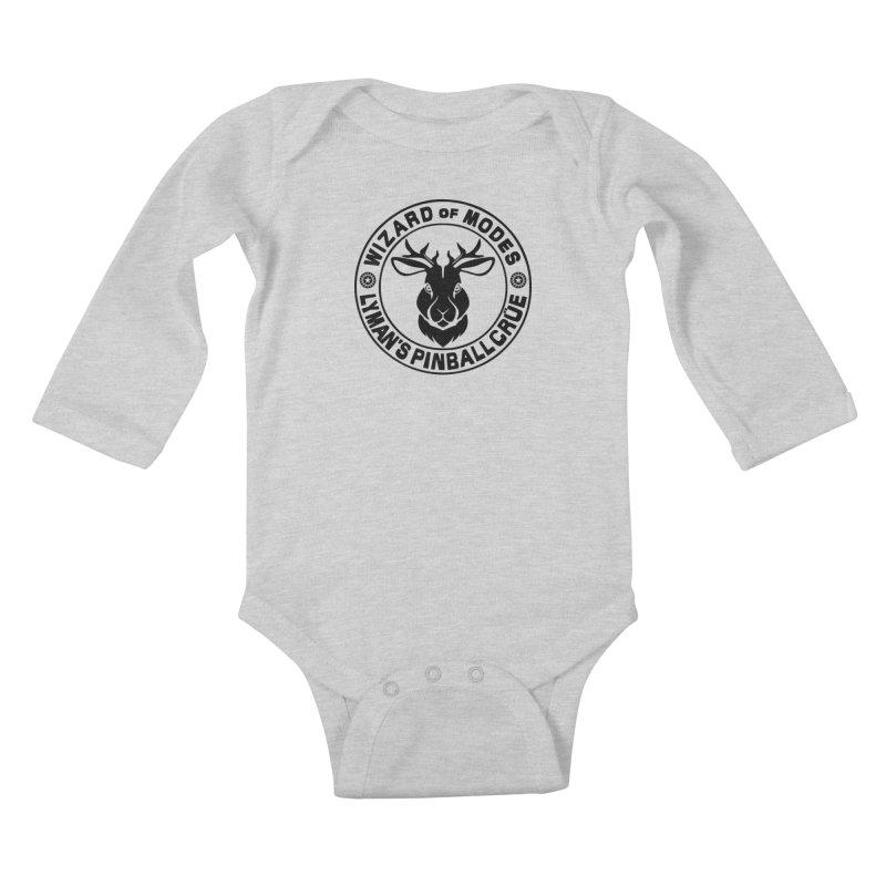 Wizard of Modes Black Kids Baby Longsleeve Bodysuit by Lymans Tavern