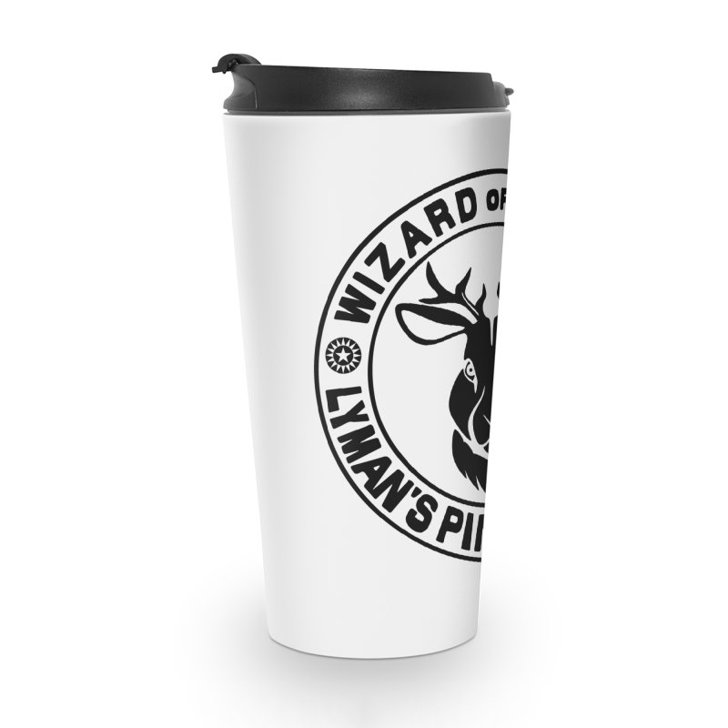 Wizard of Modes Black Accessories Travel Mug by Lymans Tavern
