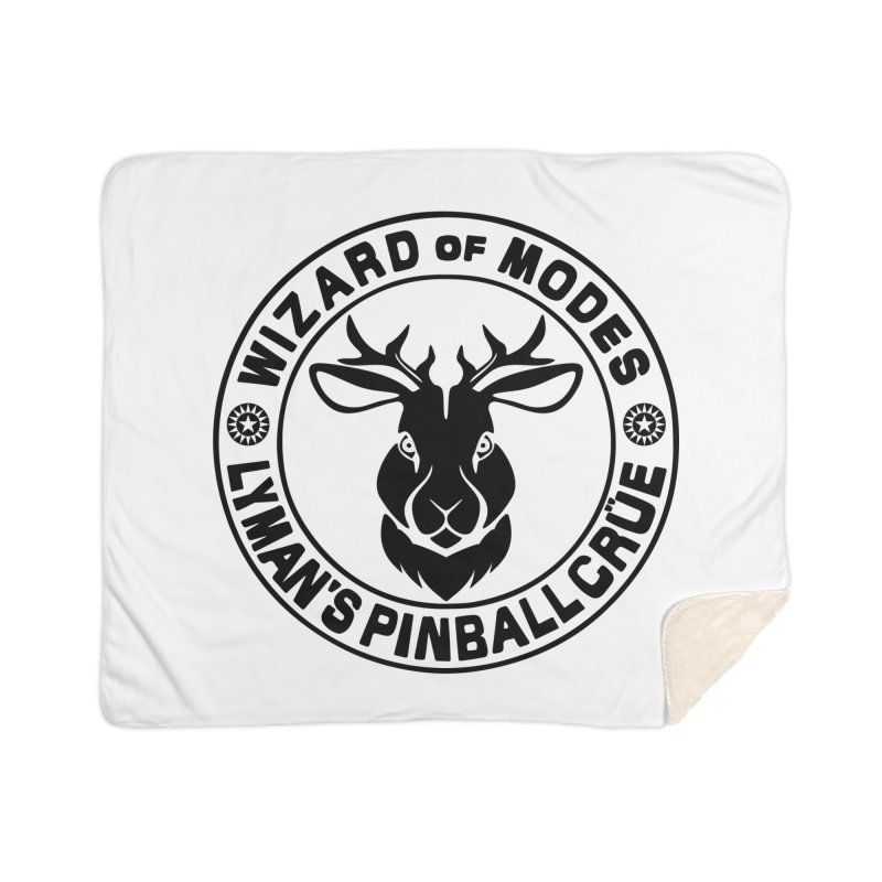 Wizard of Modes Black Home Blanket by Lymans Tavern