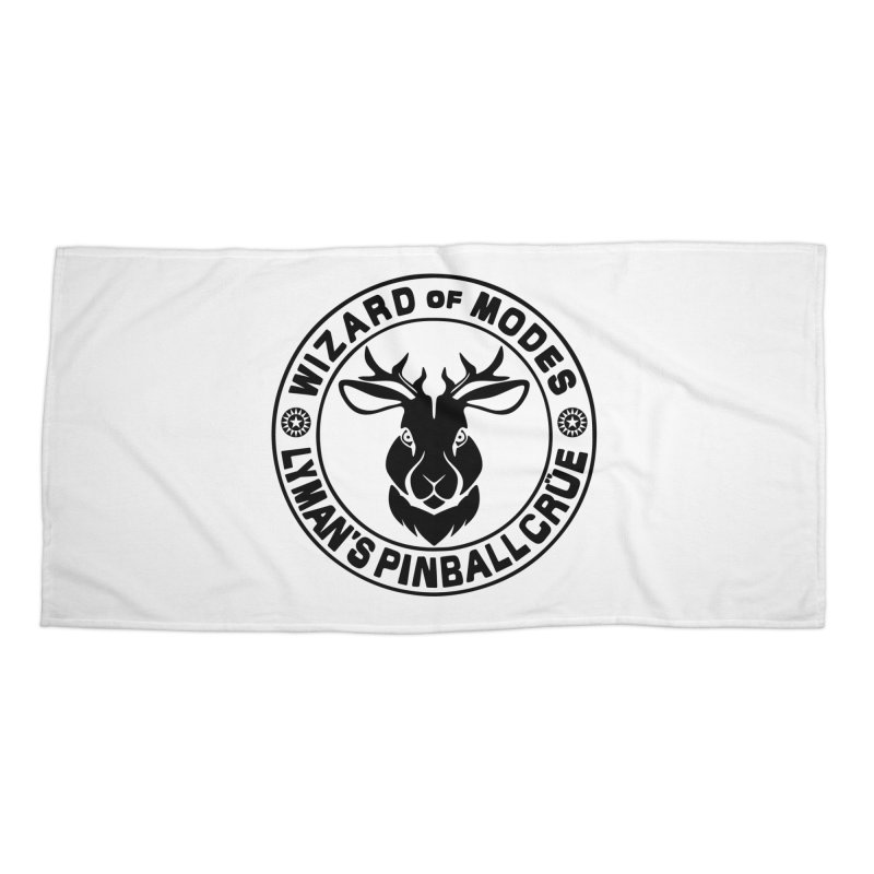 Wizard of Modes Black Accessories Beach Towel by Lymans Tavern